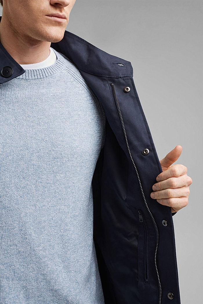 Sommer-Mantel aus Organic Cotton, DARK BLUE, detail image number 6