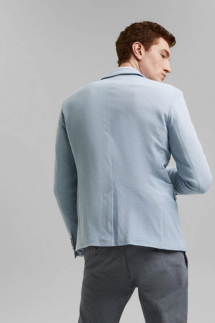 Textured sports jacket, organic cotton, GREY BLUE, detail image number 3