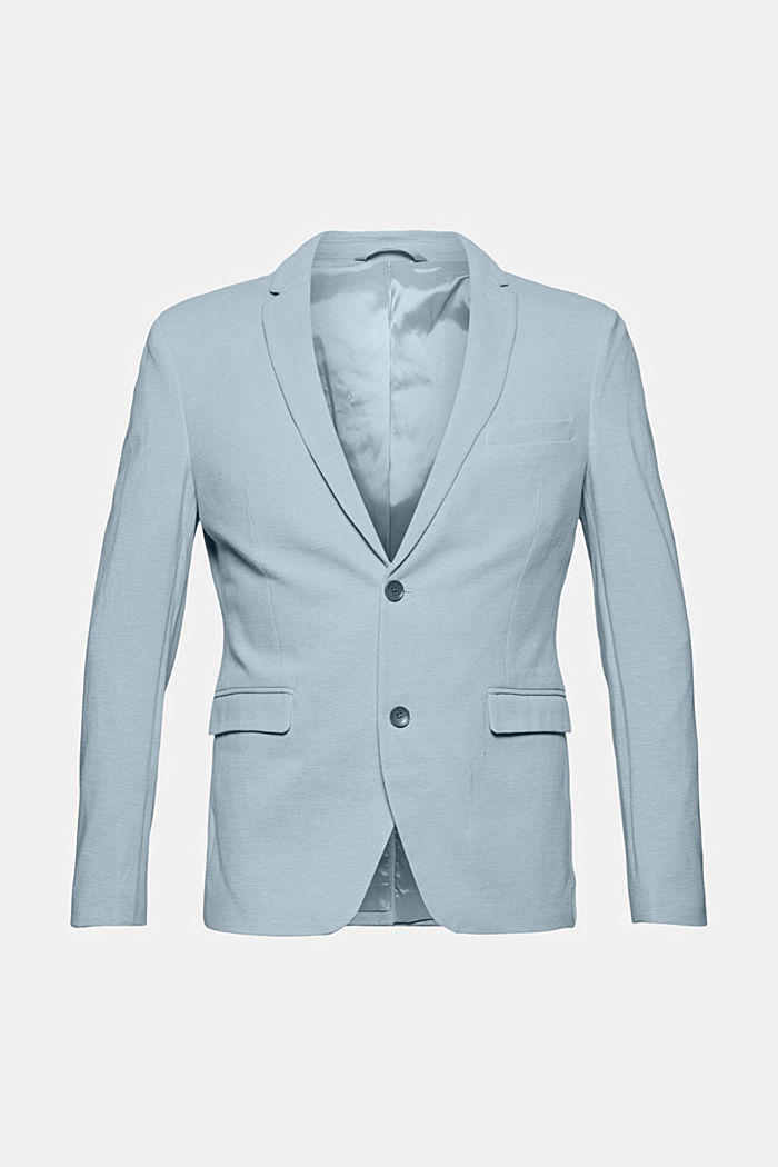 Textured sports jacket, organic cotton, GREY BLUE, detail image number 7