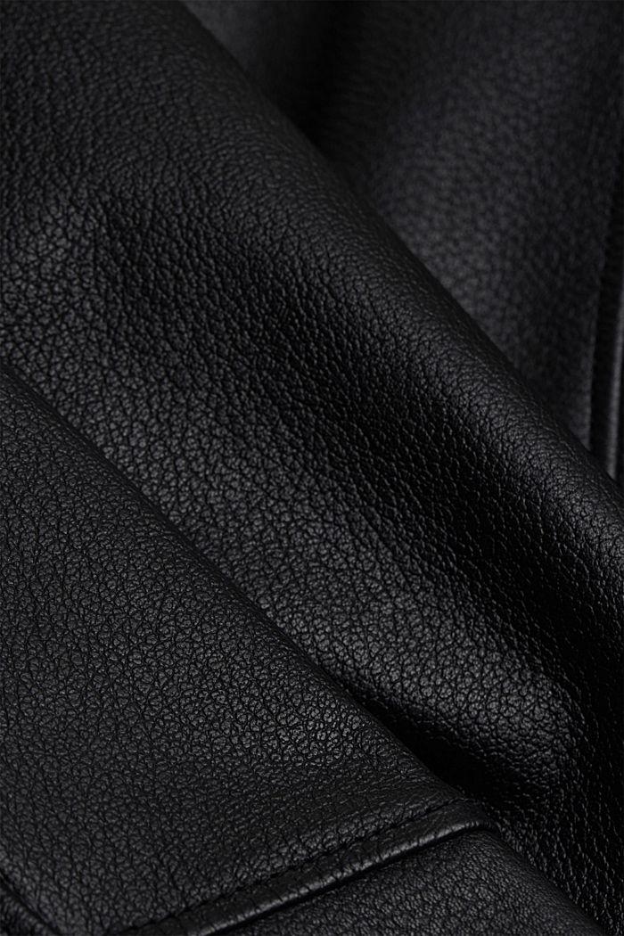Cazadora  motera en 100 % piel, BLACK, detail image number 4
