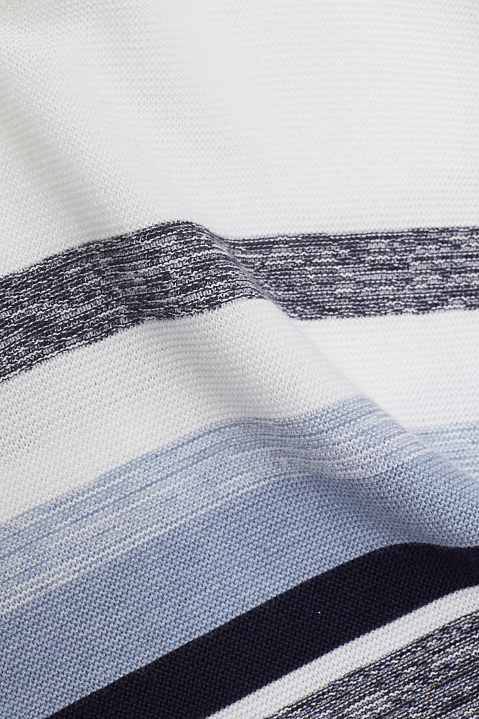 Jumper with stripes, 100% organic cotton, NAVY, detail image number 4