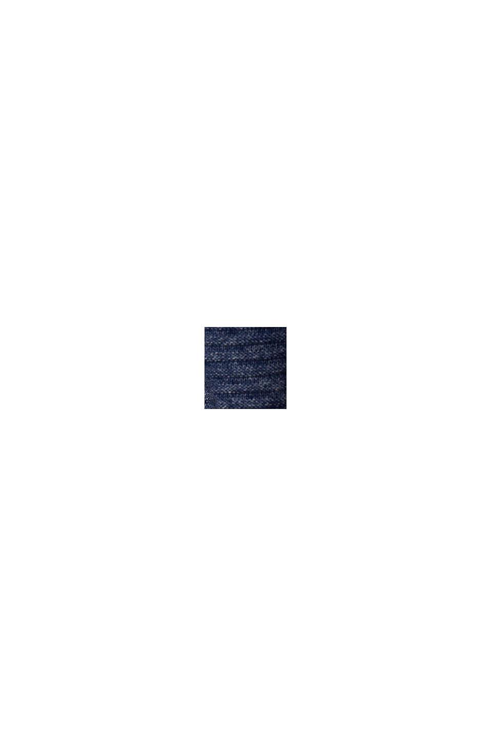 Jersey con textura, 100% algodón ecológico, DARK BLUE, swatch