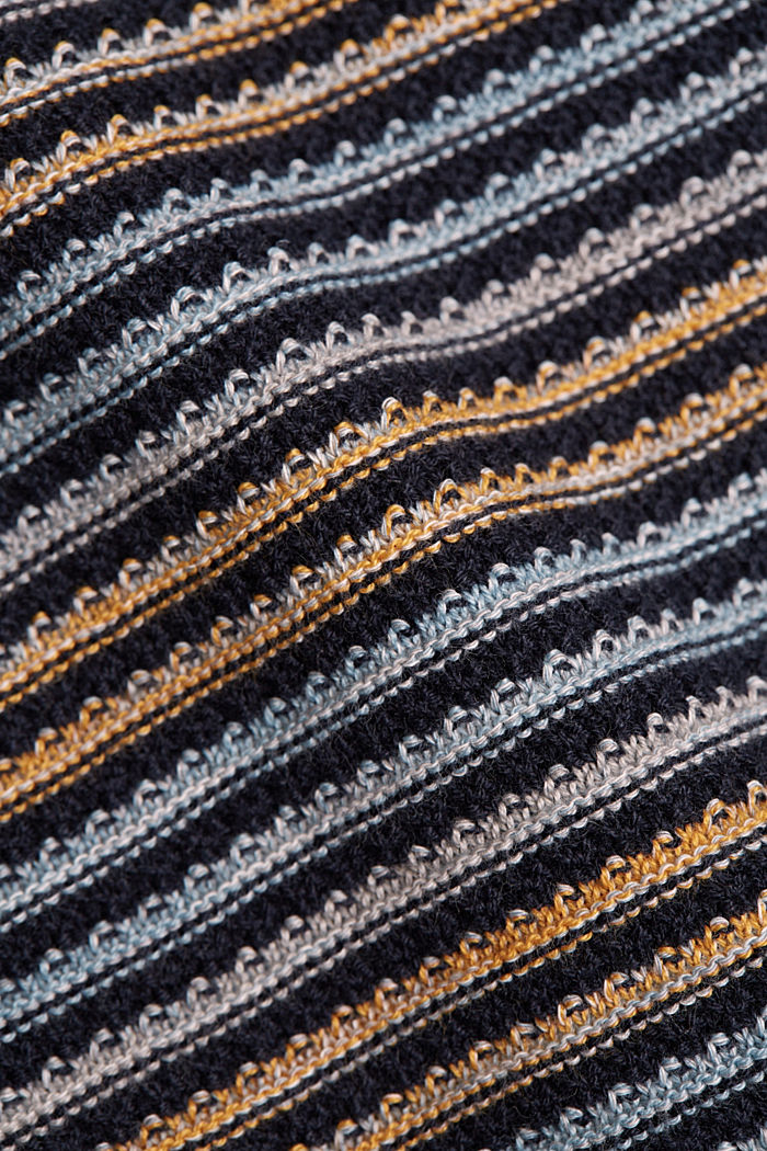 Textured jumper made of 100% organic cotton, NAVY, detail image number 4