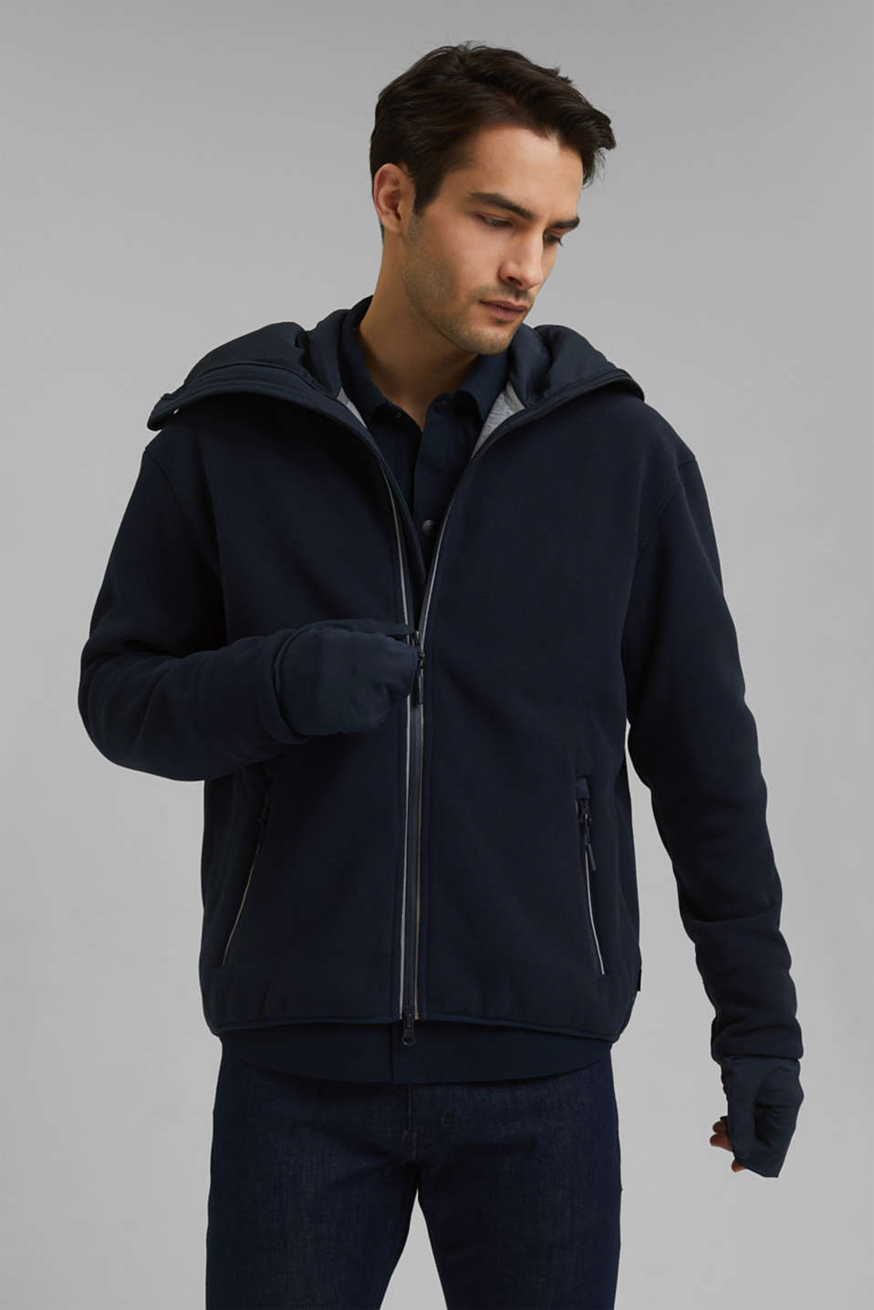 Esprit - #ReimagineFlexibility: functioneel fleece jas