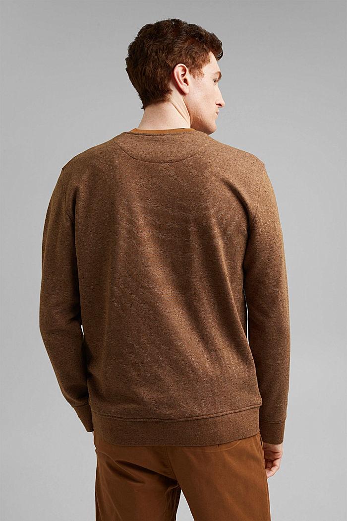 Recycled: organic cotton sweatshirt, CAMEL, detail image number 3