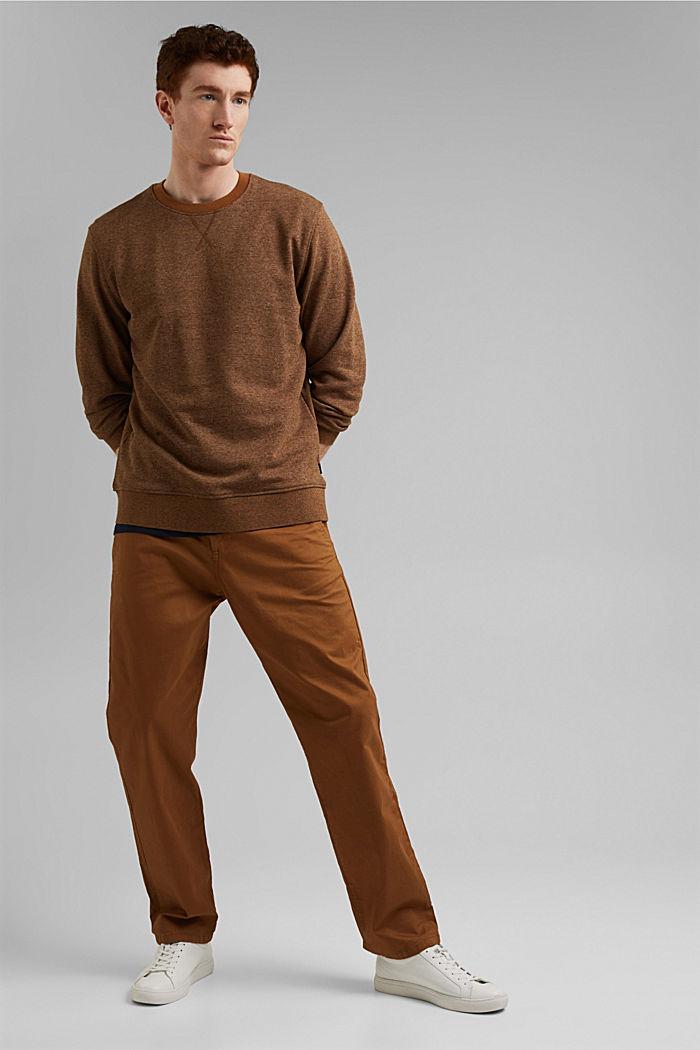 Recycled: organic cotton sweatshirt, CAMEL, detail image number 1