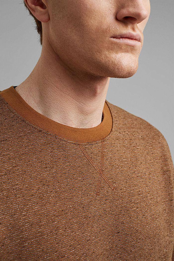 Recycled: organic cotton sweatshirt, CAMEL, detail image number 2