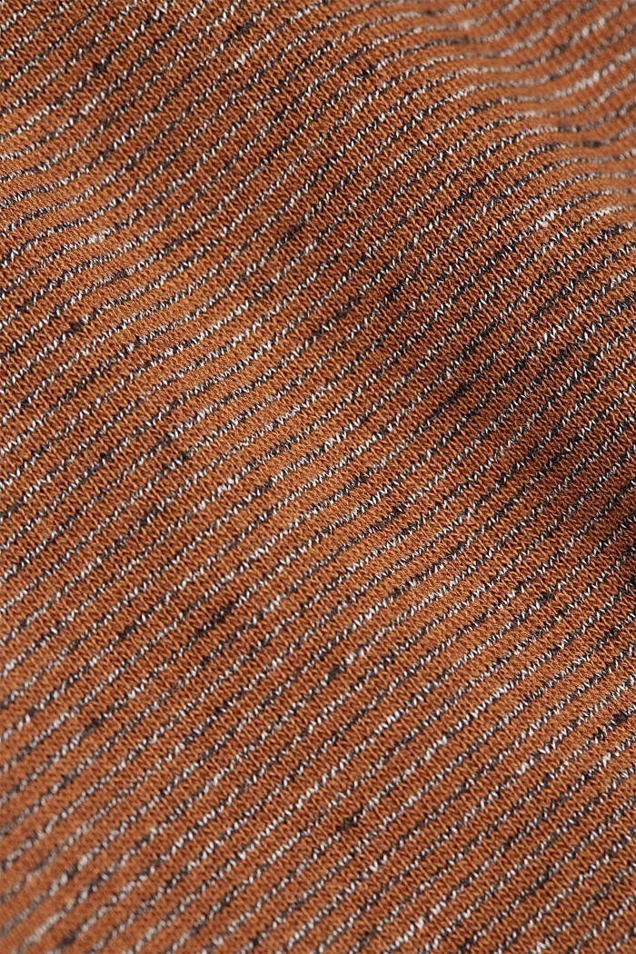 Recycled: organic cotton sweatshirt, CAMEL, detail image number 5