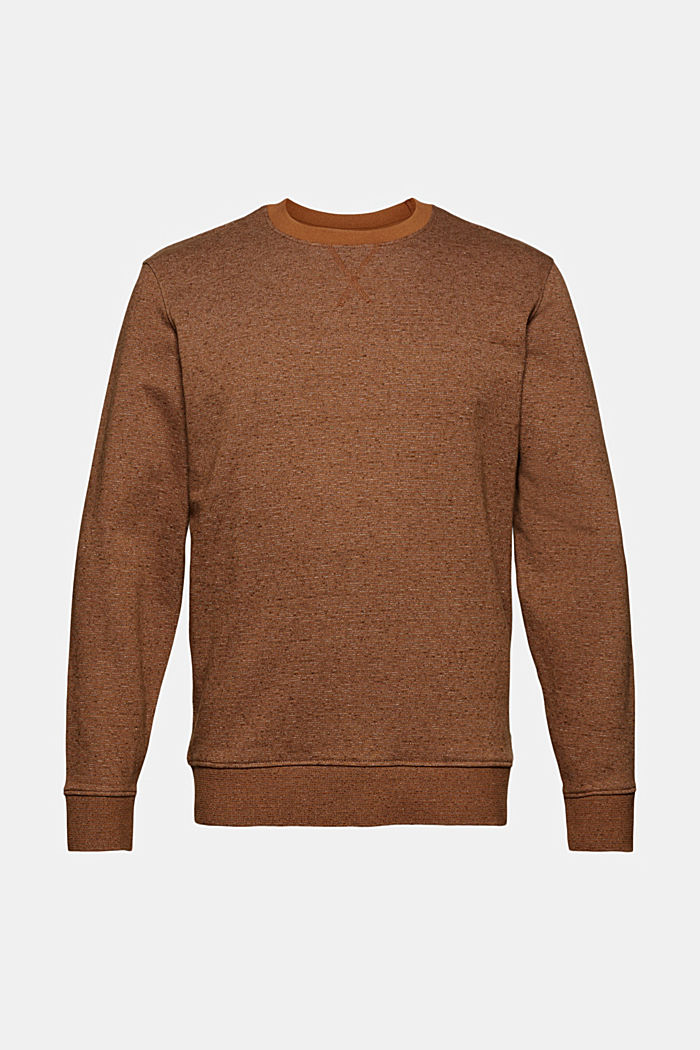 Recycelt: Sweatshirt mit Organic Cotton, CAMEL, overview