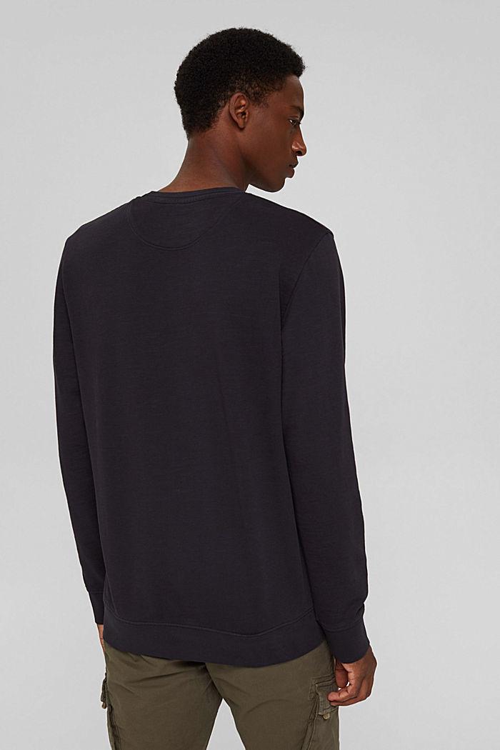 Sweat-shirt 100% coton biologique, BLACK, detail image number 3