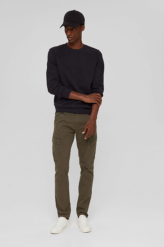 Sweat-shirt 100% coton biologique, BLACK, detail image number 1