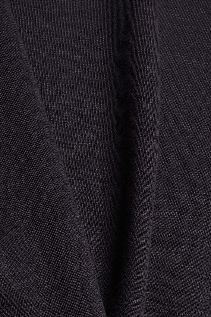 Sweat-shirt 100% coton biologique, BLACK, detail image number 4