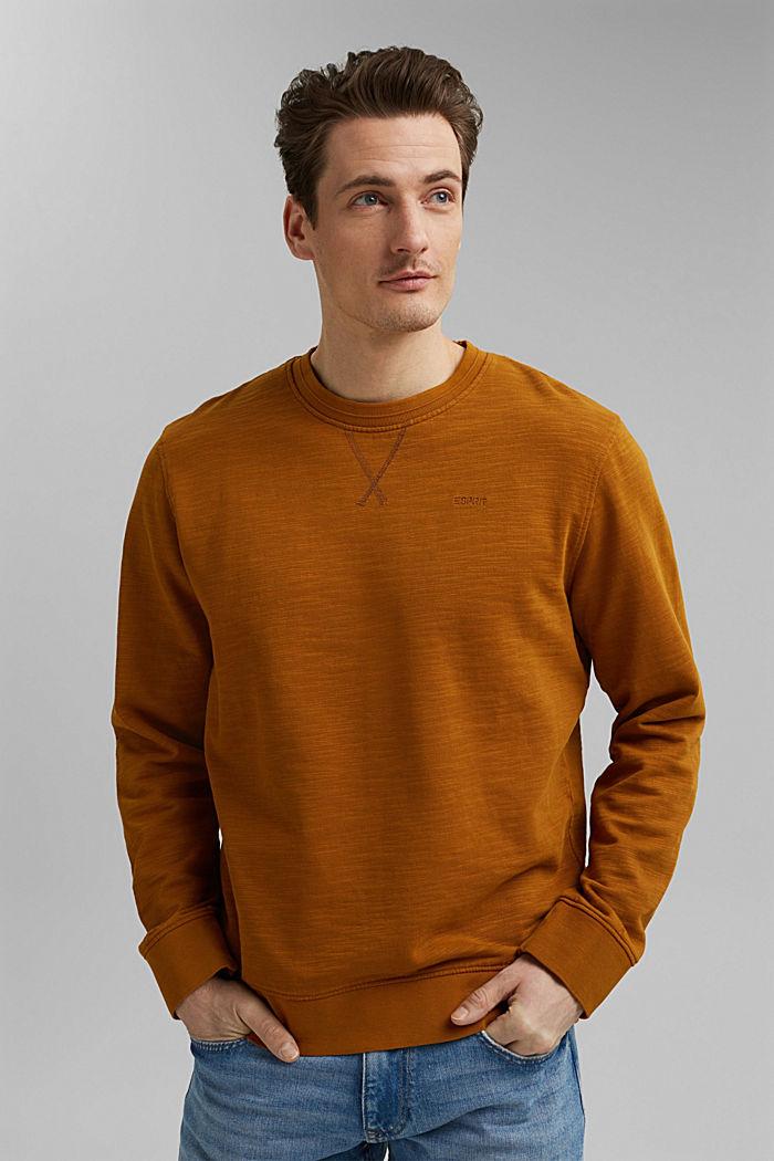 Sweatshirt aus 100% Organic Cotton, CAMEL, detail image number 0