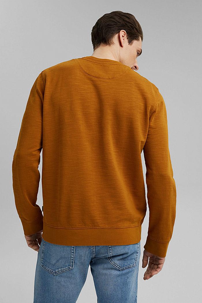 Sweatshirt aus 100% Organic Cotton, CAMEL, detail image number 3