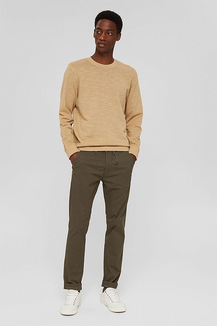 Sweatshirt made of 100% organic cotton, BEIGE, detail image number 1
