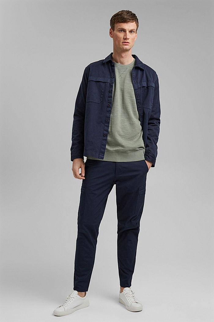 Sweatshirt made of 100% organic cotton, LIGHT KHAKI, detail image number 1