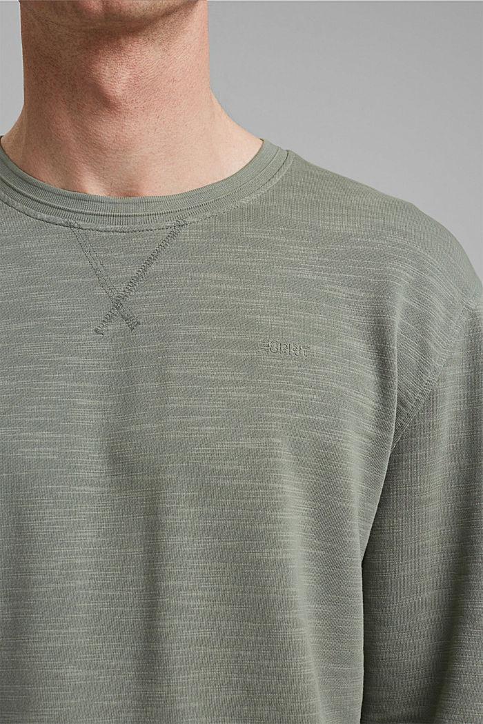 Sweatshirt made of 100% organic cotton, LIGHT KHAKI, detail image number 2