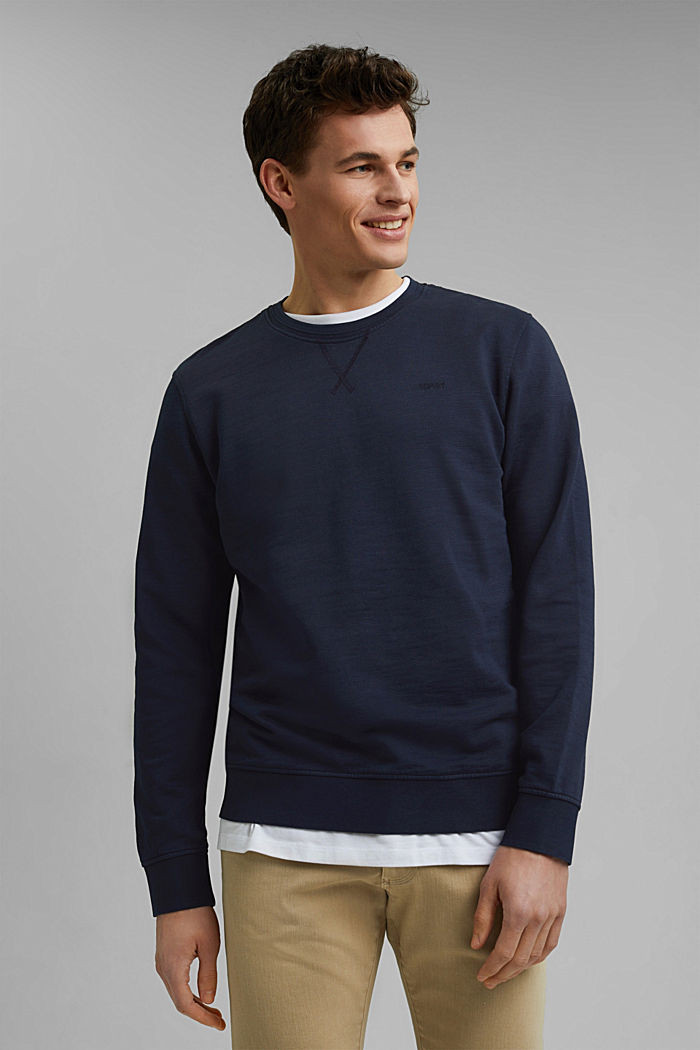 Sweatshirt aus 100% Organic Cotton, NAVY, detail image number 0