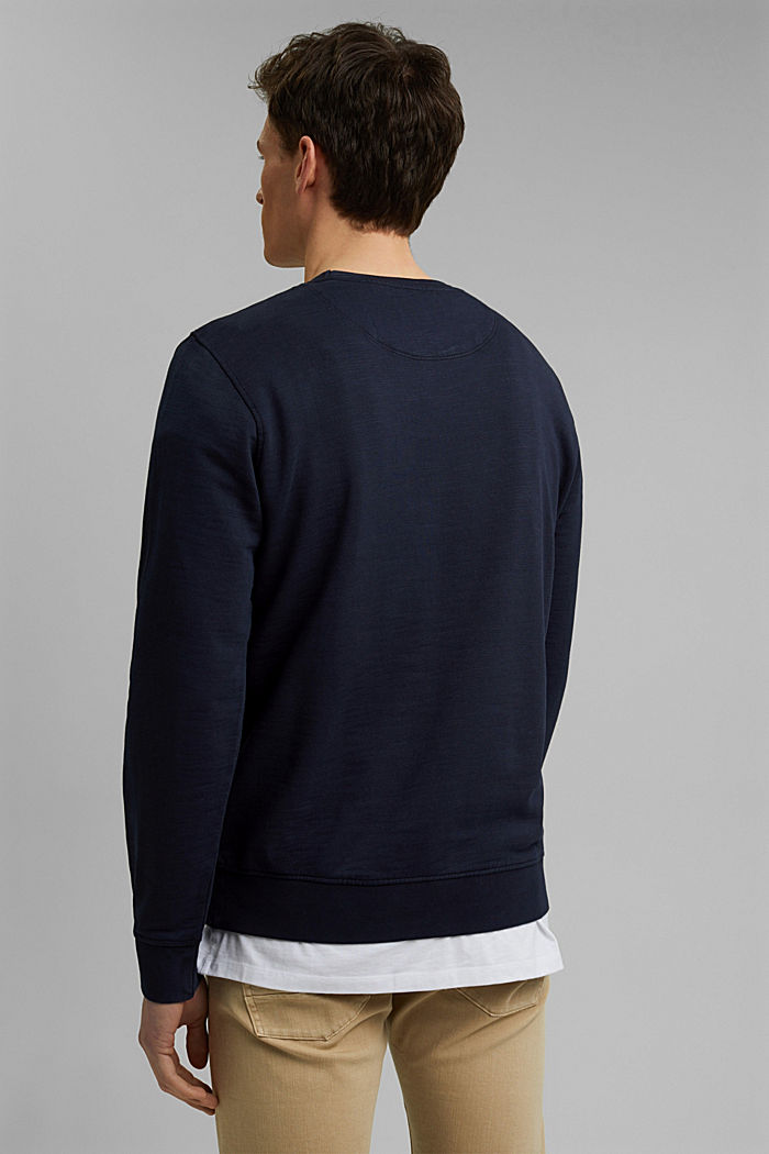Sweatshirt aus 100% Organic Cotton, NAVY, detail image number 3