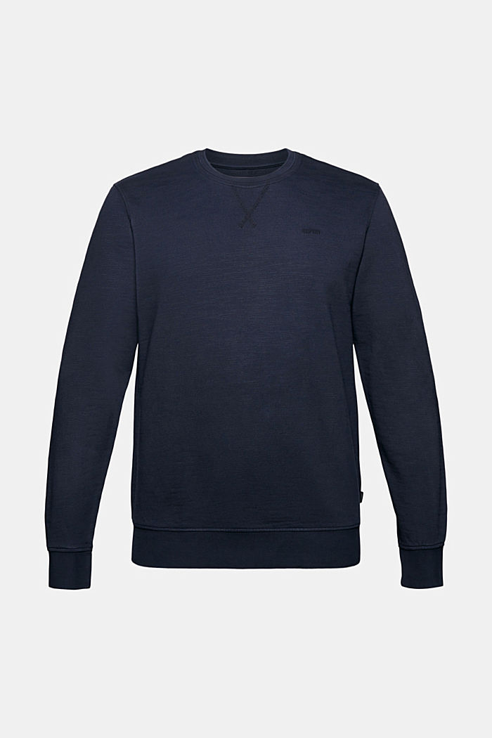 Sweatshirt aus 100% Organic Cotton, NAVY, detail image number 5