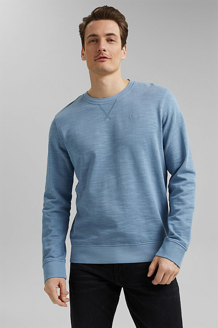 Sweatshirt aus 100% Organic Cotton, GREY BLUE, detail image number 0