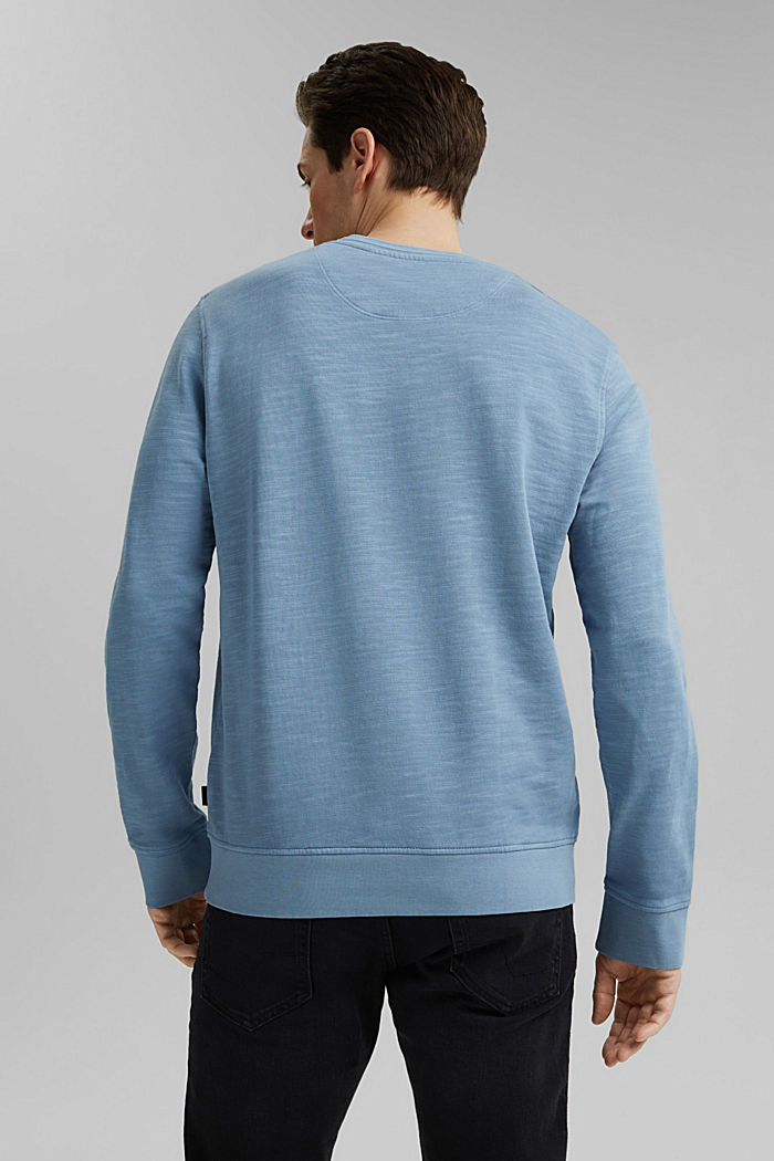 Sweatshirt aus 100% Organic Cotton, GREY BLUE, detail image number 2
