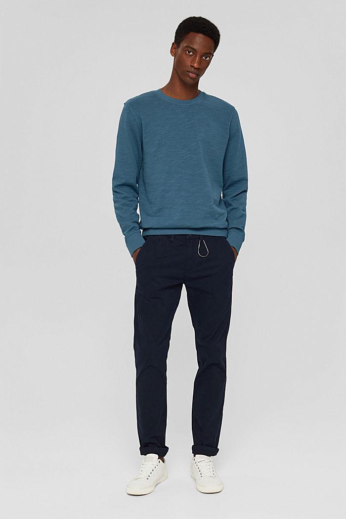 Sweatshirt van 100% biologisch katoen, PETROL BLUE, detail image number 1