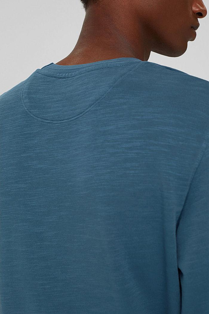 Sweatshirt van 100% biologisch katoen, PETROL BLUE, detail image number 2