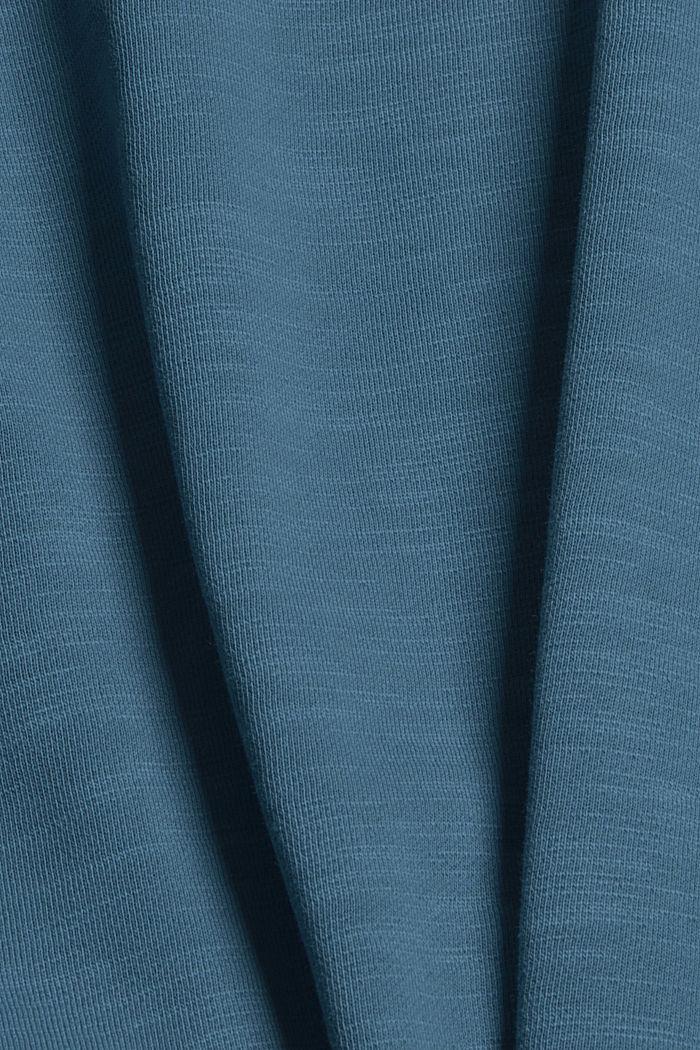 Sweatshirt van 100% biologisch katoen, PETROL BLUE, detail image number 4