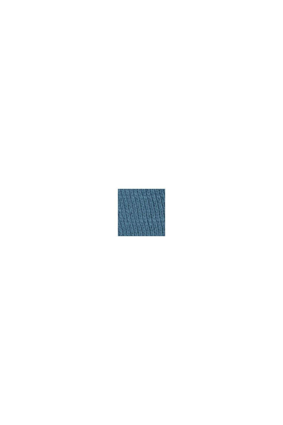 Sudadera en 100 % algodón ecológico, PETROL BLUE, swatch