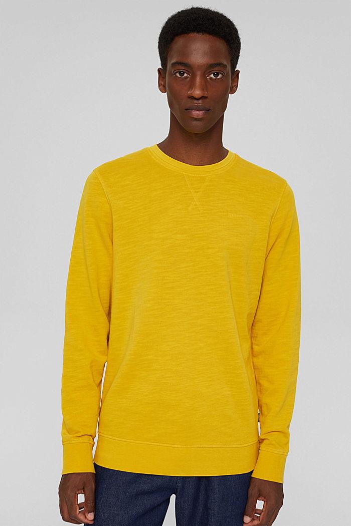 Sweatshirt af 100% økologisk bomuld, YELLOW, detail image number 0