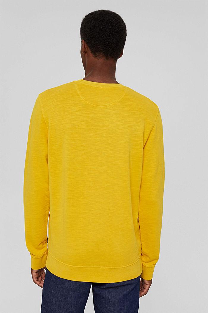 Sweatshirt af 100% økologisk bomuld, YELLOW, detail image number 3