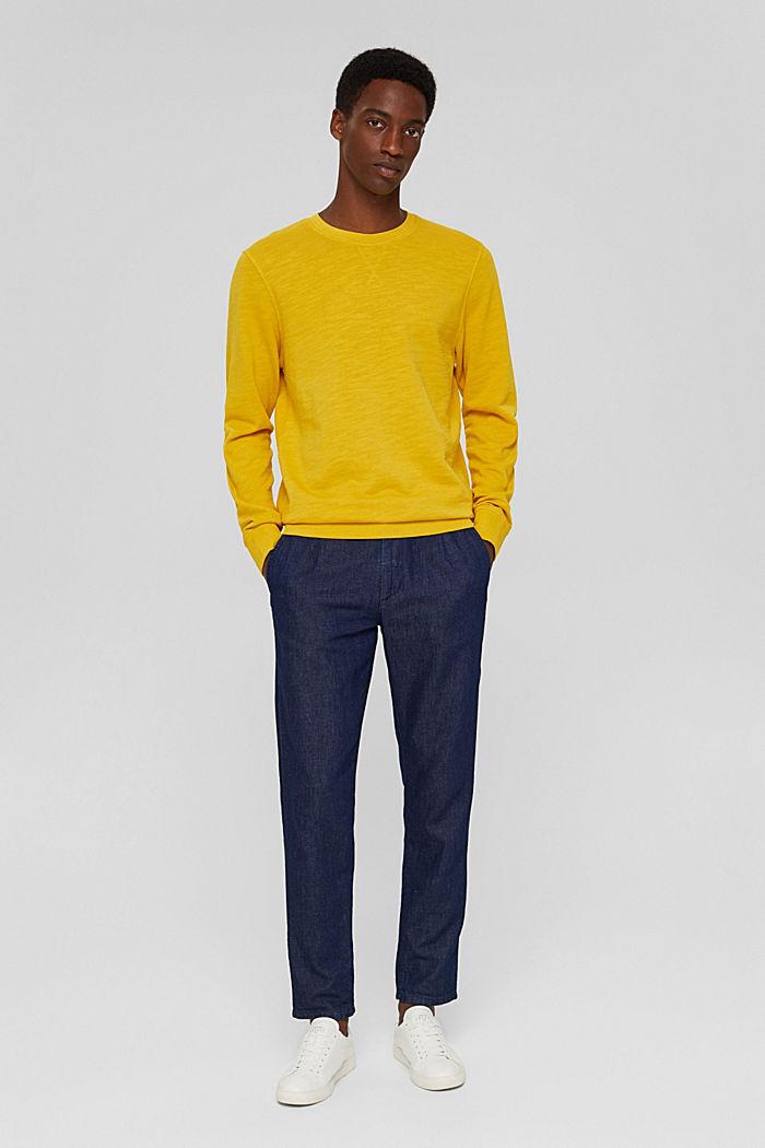 Sweatshirt af 100% økologisk bomuld, YELLOW, detail image number 1