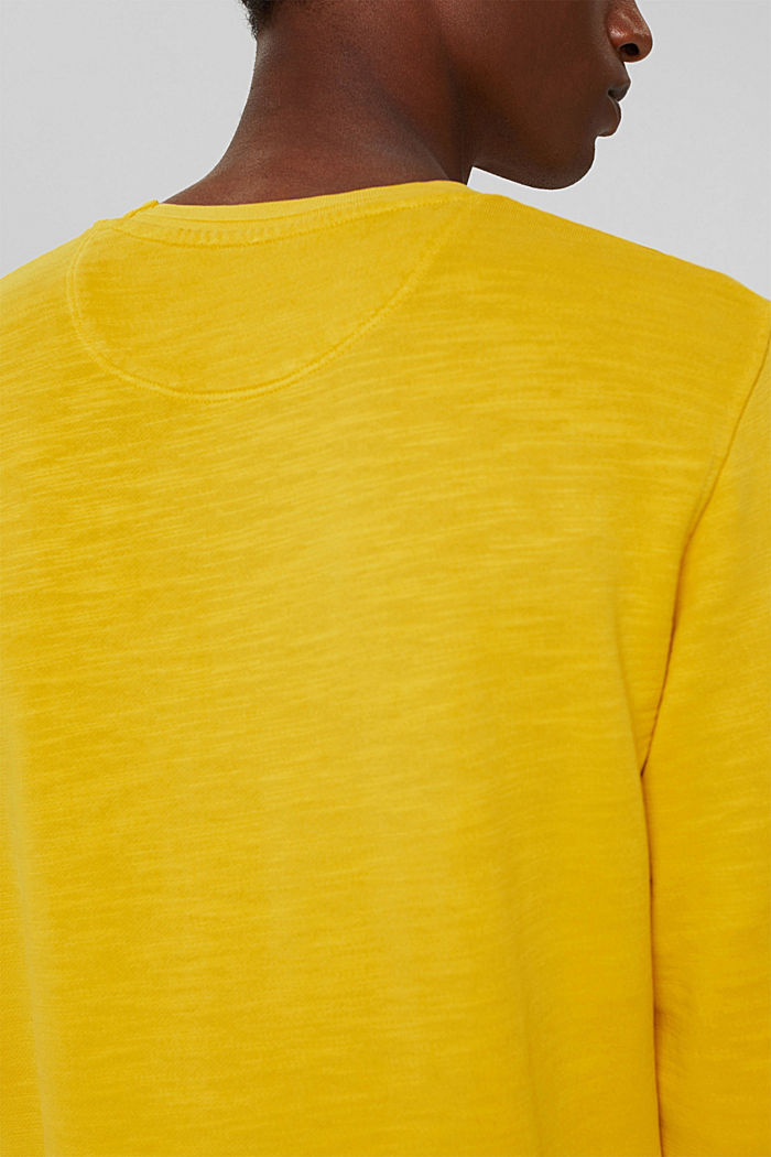 Sweatshirt af 100% økologisk bomuld, YELLOW, detail image number 2