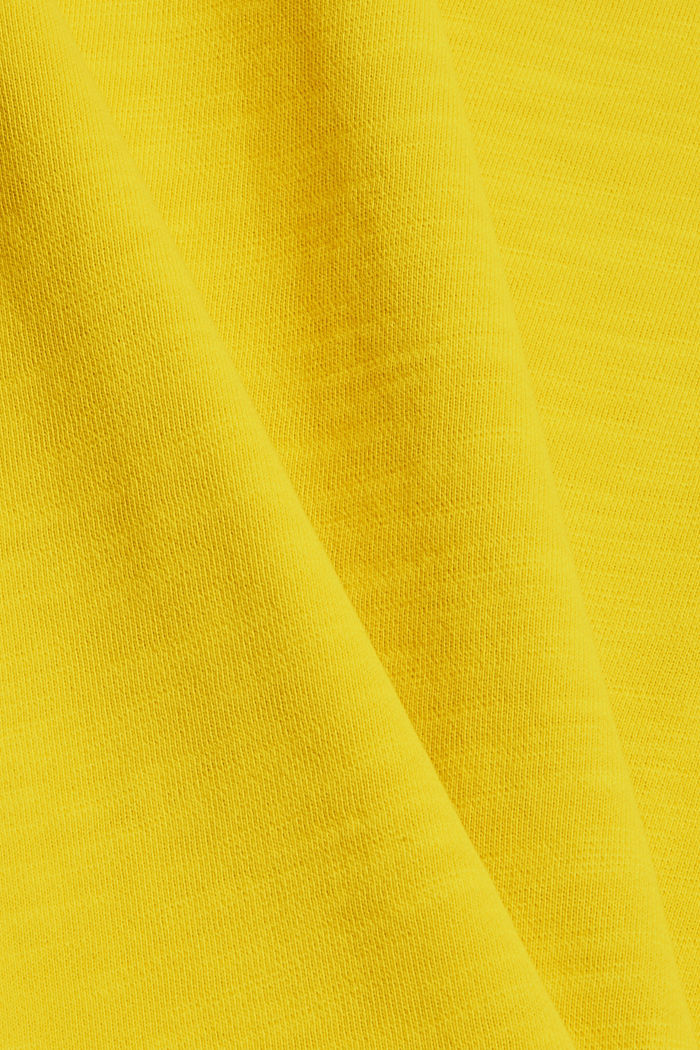 Sweatshirt af 100% økologisk bomuld, YELLOW, detail image number 4