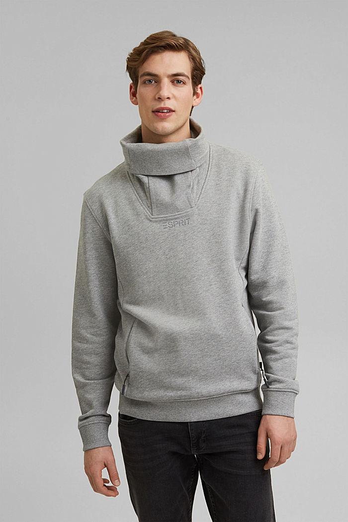 #ReimagineFlexibility: outdoor sweatshirt, MEDIUM GREY, detail image number 0
