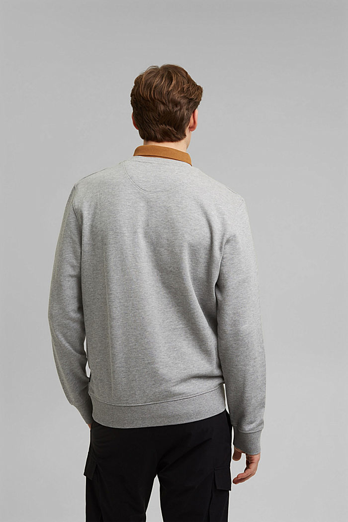 Organic cotton sweatshirt, MEDIUM GREY, detail image number 3