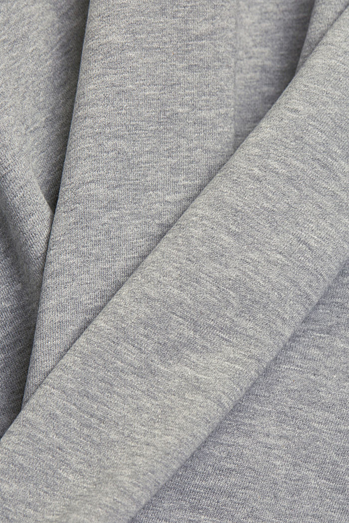 Organic cotton sweatshirt, MEDIUM GREY, detail image number 5