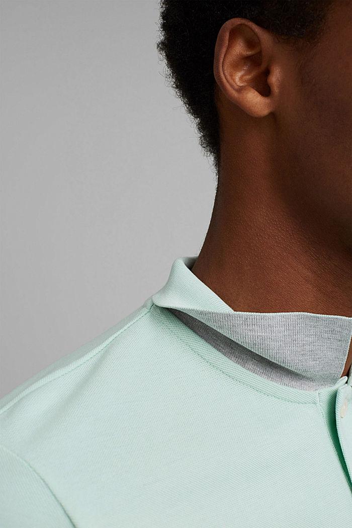 Piqué poloshirt van 100% biologisch katoen, PASTEL GREEN, detail image number 1