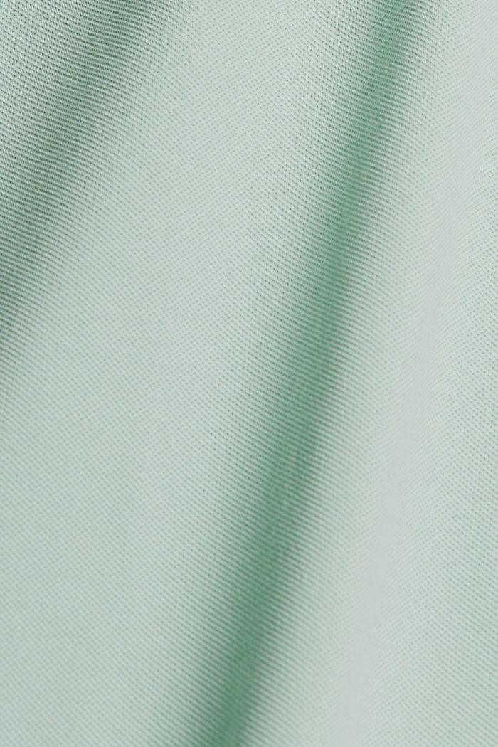 Piqué poloshirt van 100% biologisch katoen, PASTEL GREEN, detail image number 4
