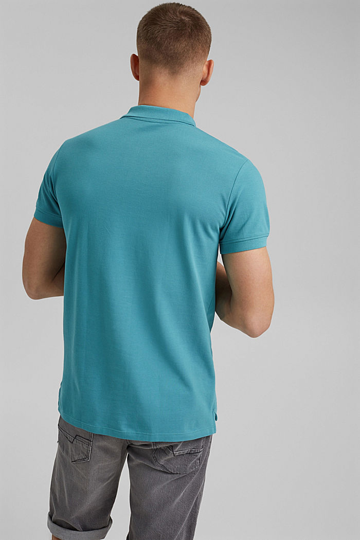 Piqué polo shirt in 100% organic cotton, LIGHT AQUA GREEN, detail image number 3