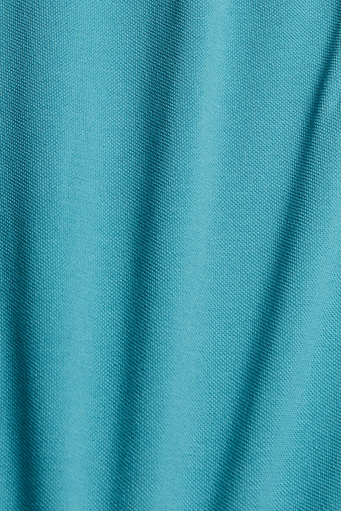 Piqué polo shirt in 100% organic cotton, LIGHT AQUA GREEN, detail image number 4