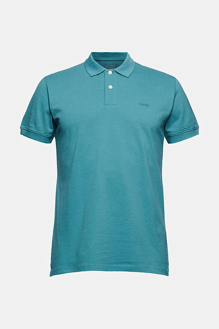 Piqué polo shirt in 100% organic cotton, LIGHT AQUA GREEN, detail image number 6