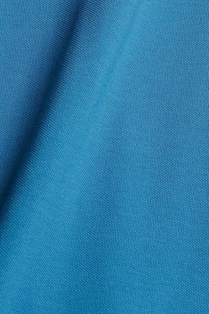 Pikeepaita 100 % luomupuuvillaa, PETROL BLUE, detail image number 5
