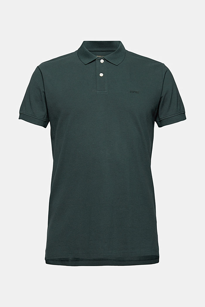 Piqué polo shirt in 100% organic cotton, TEAL BLUE, detail image number 6