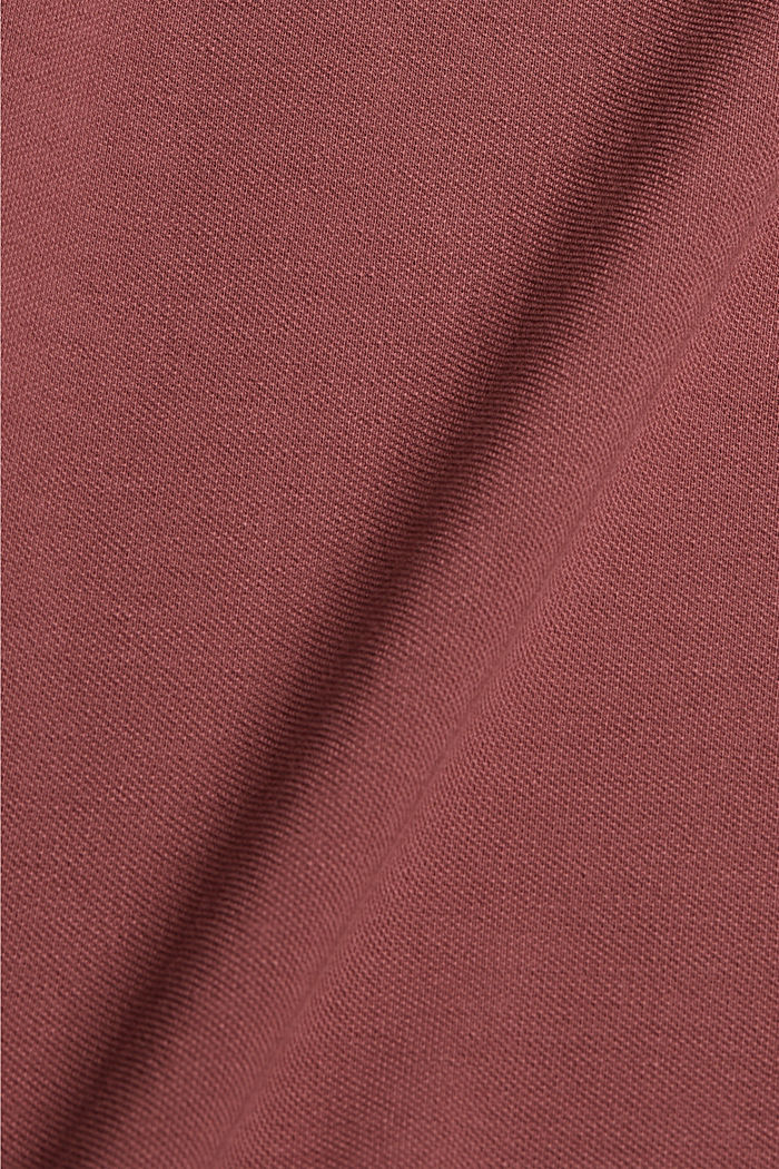Piqué-Polo aus 100% Bio-Baumwolle, BERRY RED, detail image number 5