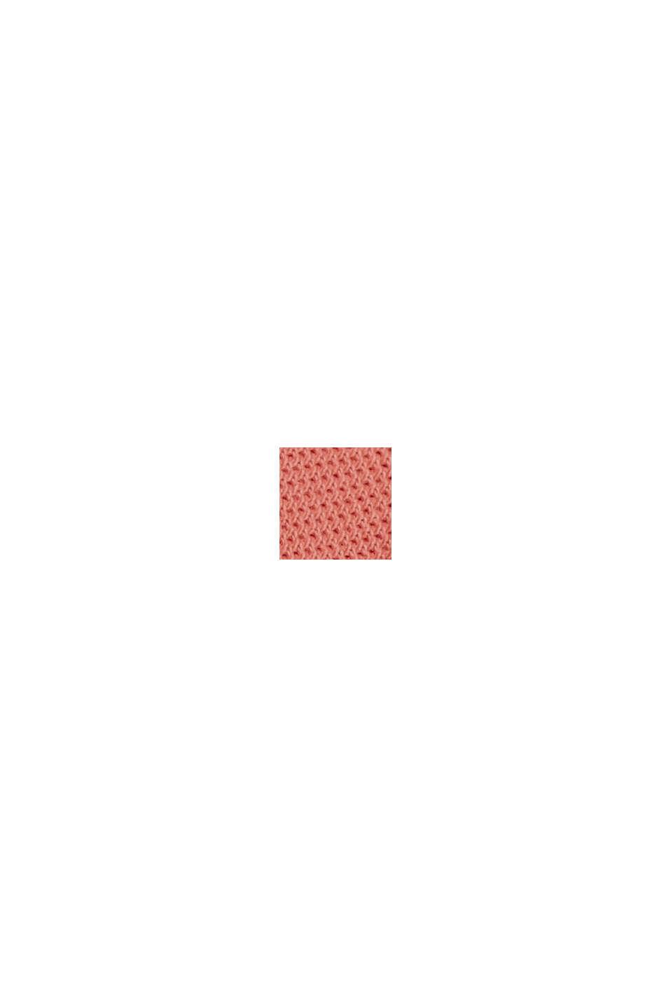 Polo en maille piquée, 100% coton bio, CORAL RED, swatch