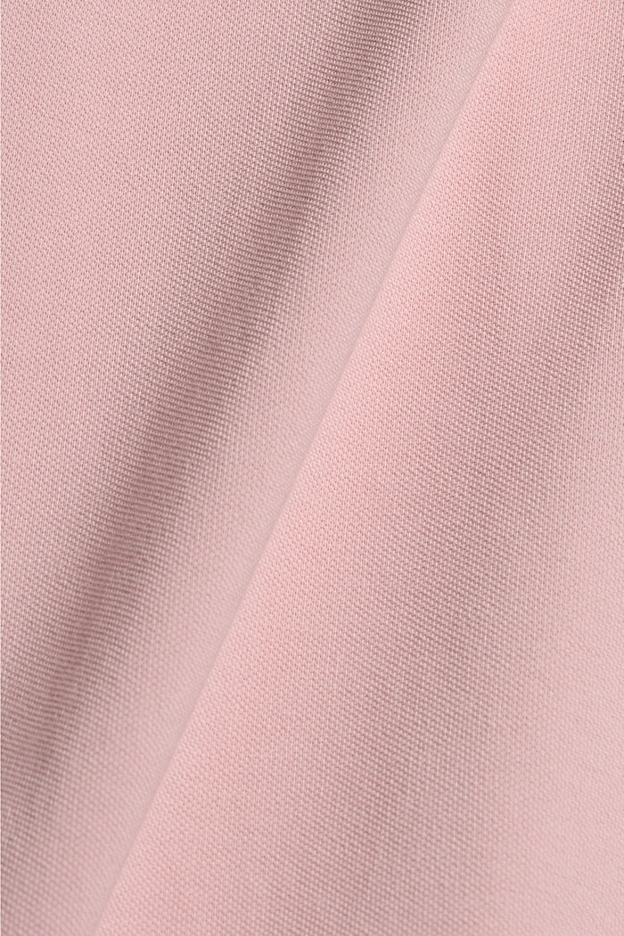 Piqué-poloshirt i 100 % økologisk bomuld, PASTEL PINK, detail image number 5