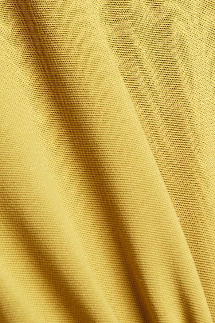 Piqué-poloshirt i 100 % økologisk bomuld, BRASS YELLOW, detail image number 5
