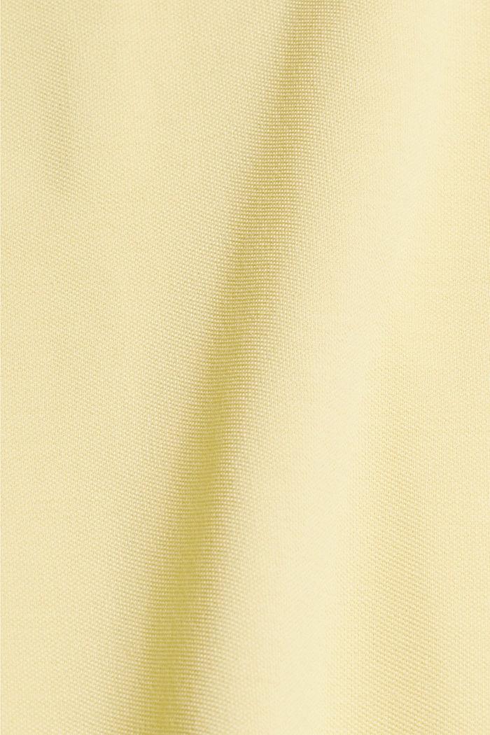 Piqué-Polo aus 100% Bio-Baumwolle, LIGHT YELLOW, detail image number 4